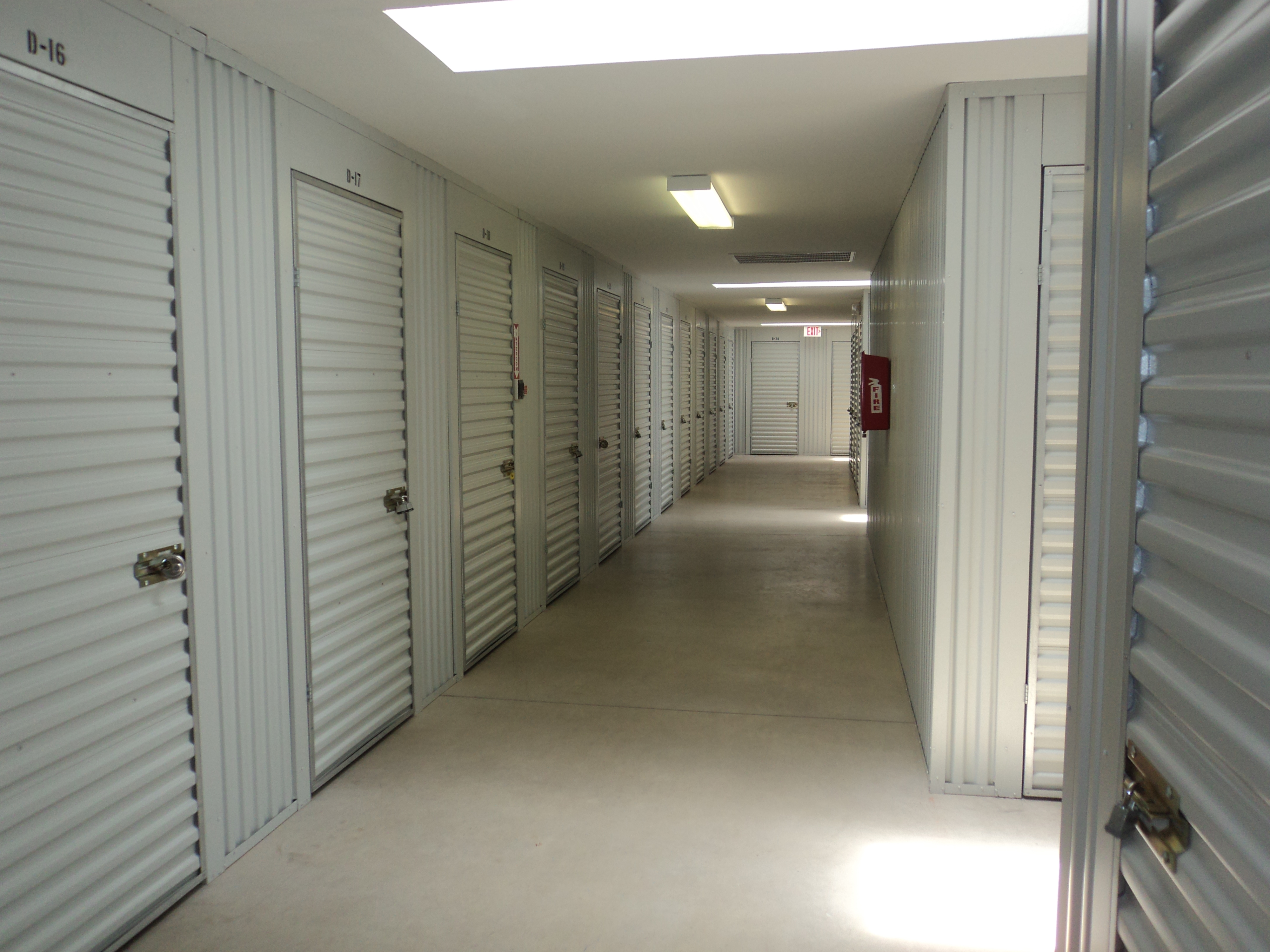 inside units locked Security Self Storage