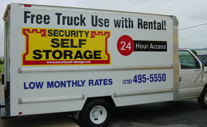 free truck moving Security Self Storage