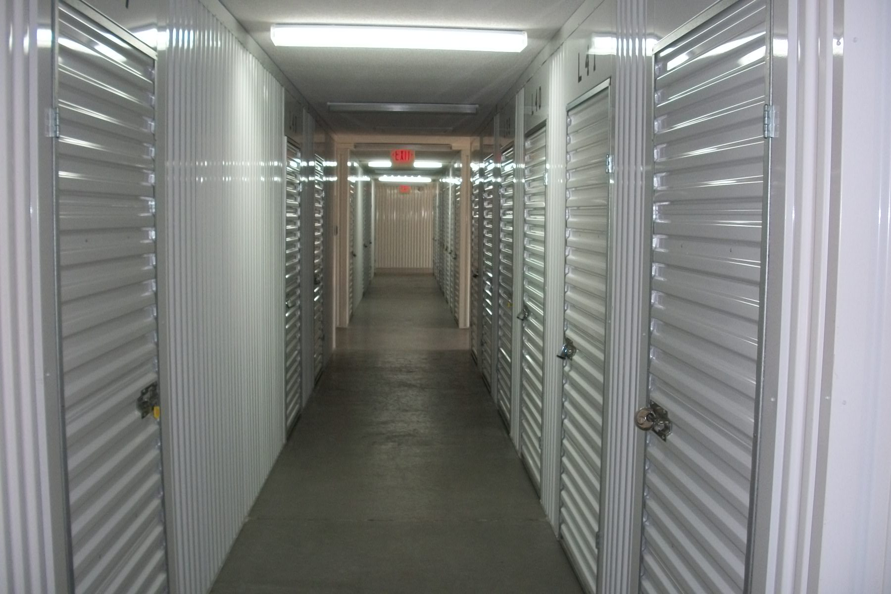 inside white storage Security Self Storage