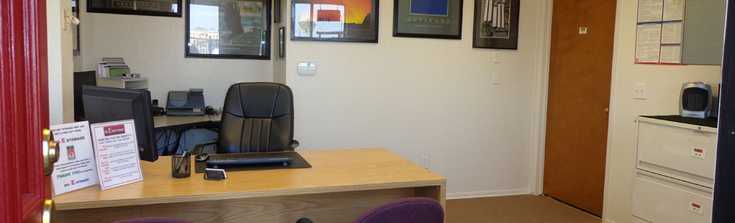 Office interior for stockton self storage