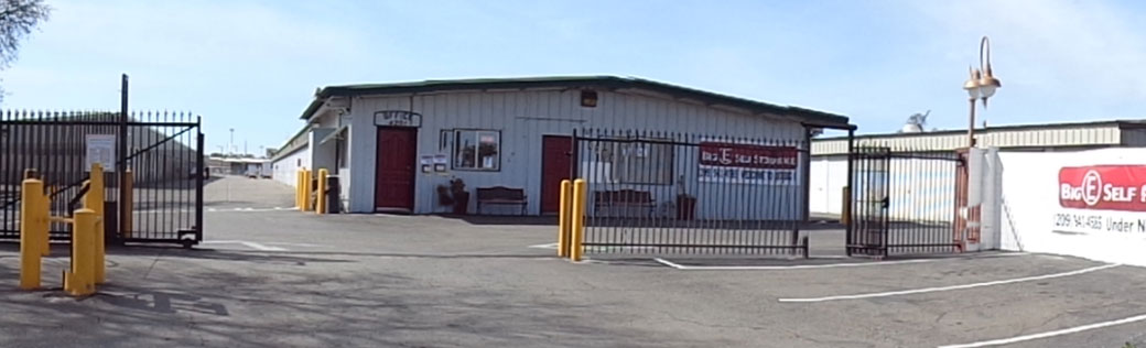 Stockton self storage entrance gate